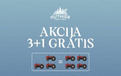Aktivna promocija kupovine karata  3+1 GRATIS za Outhide Festival