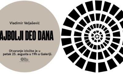 Otvaranje izložbe Vladimira Veljaševića u galeriji Doma omladine Beograda
