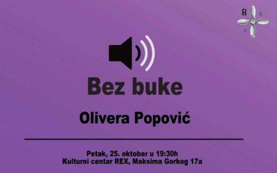 Olivera Popović u petak u KC Rex-u