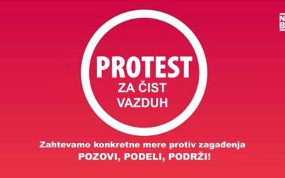 Protest za čist vazduh danas ispred skupštine grada Beograda
