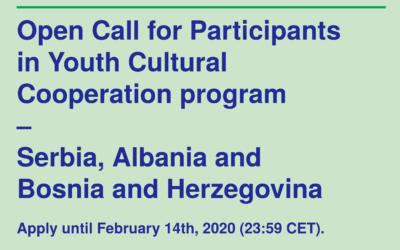 Konkurs za učesnike programa kulturne saradnje mladih – Srbija, Albanija i Bosna i Hercegovina