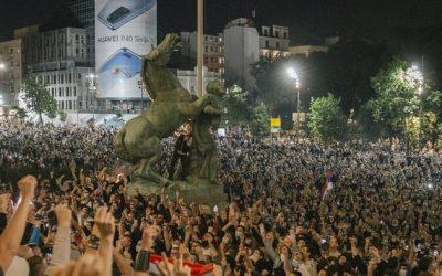 Održan protest građana ispred Skupštine Srbije