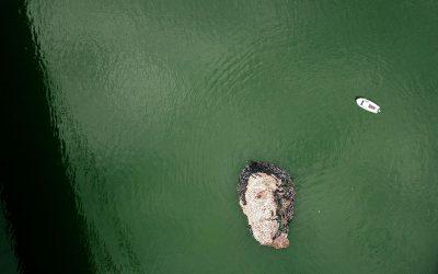 Portret sa likom Jovana Memedović od flaša na Svetski dan reka