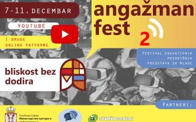 Drugi Angažman Fest od 7. do 11. decembra – u virtuelnom svetu