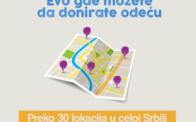 Mapa organizacija i institucija gde možete da donirate odeću